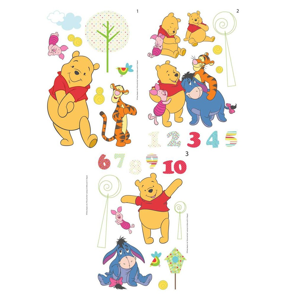 Details About WINNIE THE POOH QUICK STICKS 66 WALL STICKERS NEW . Part 87