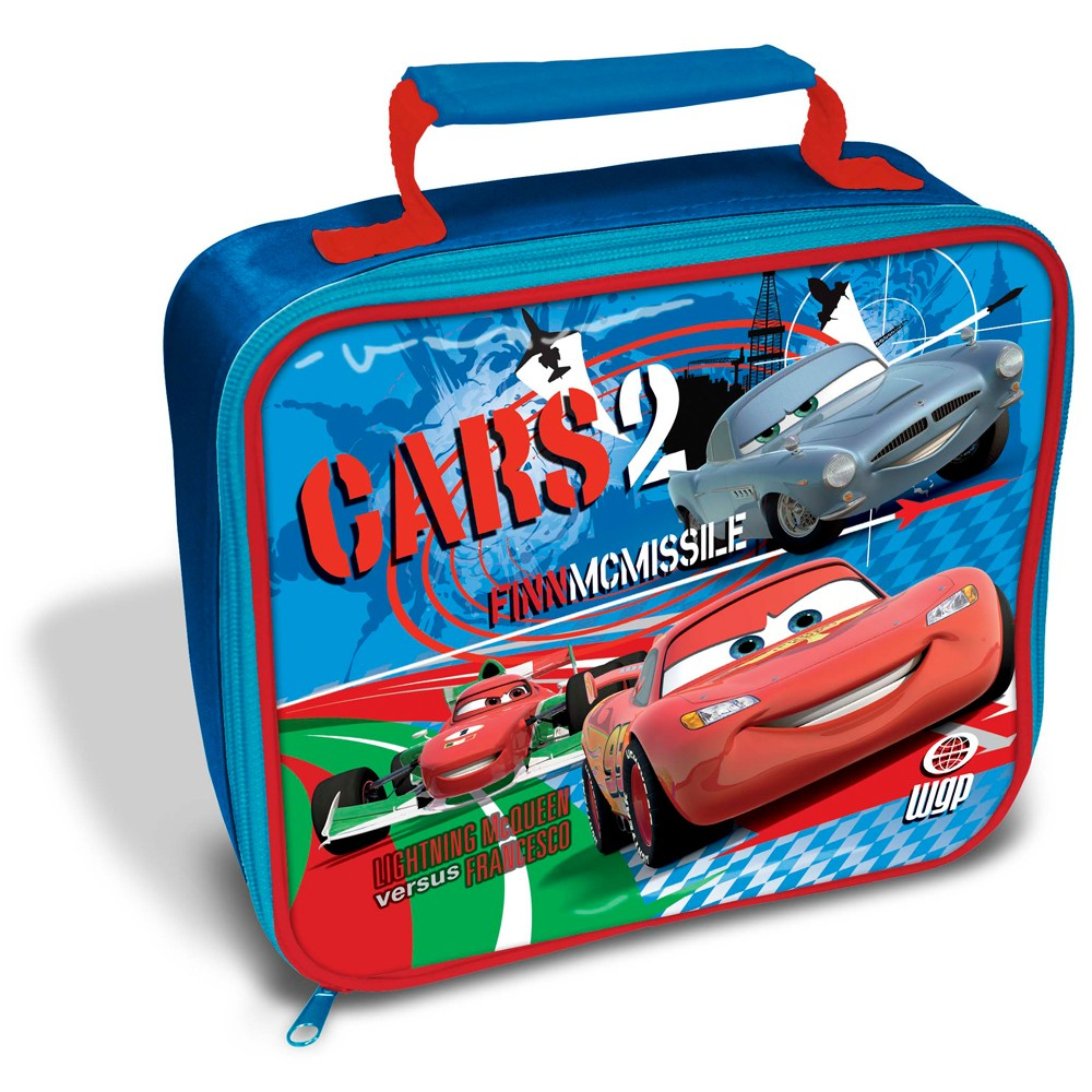 Disney cars 2 insulated lunch bag box new official for 2 1 2 box auto