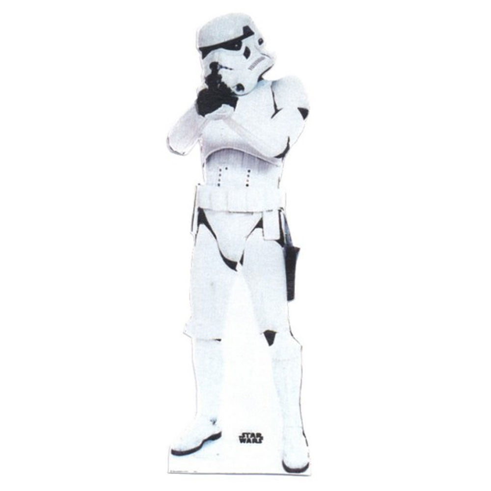 Star wars 39 stormtrooper 39 cardboard cut out free p p ebay for Large cardboard cut out numbers