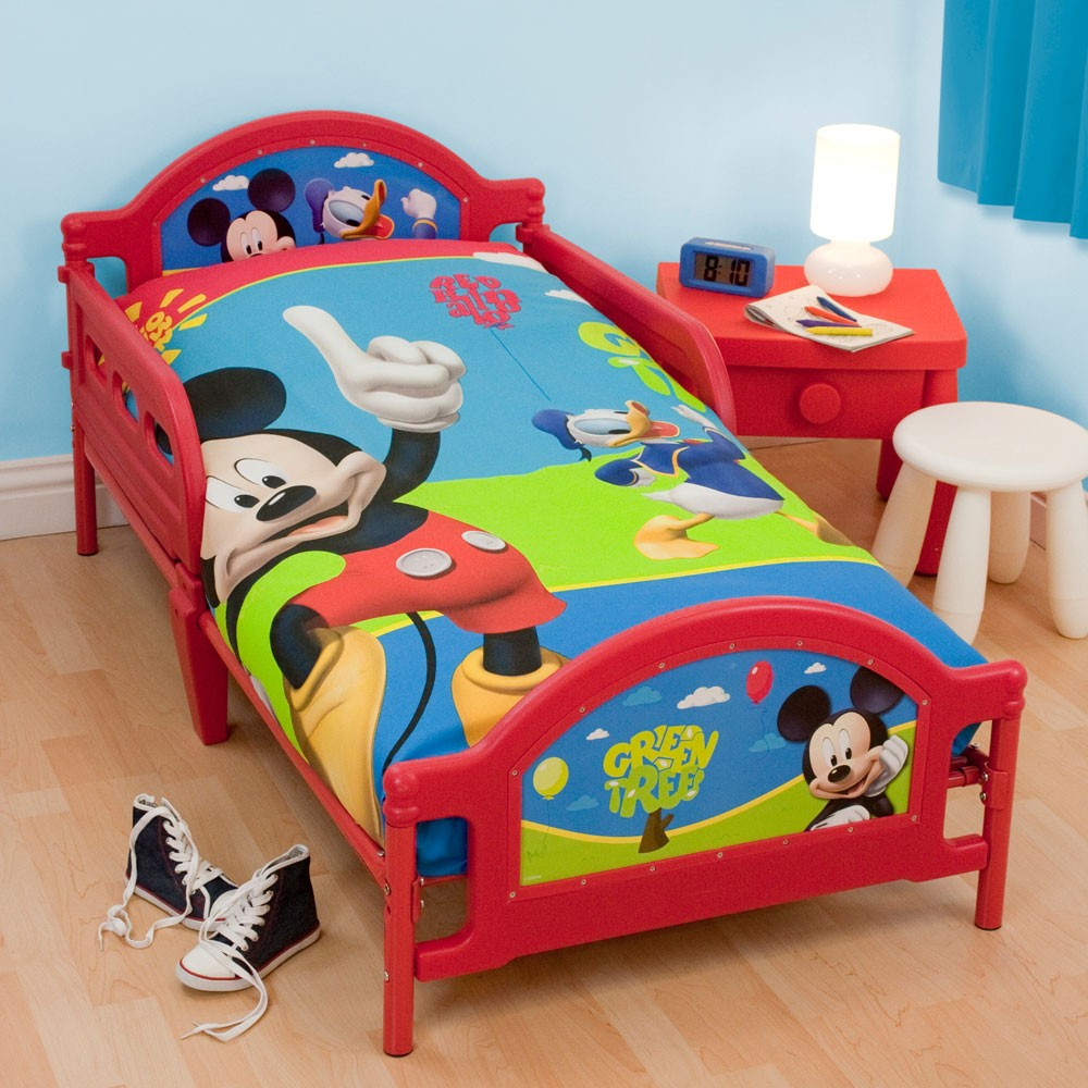 Character generic junior toddler beds with or without mattresses new ebay - Mickey mouse bedroom furniture ...