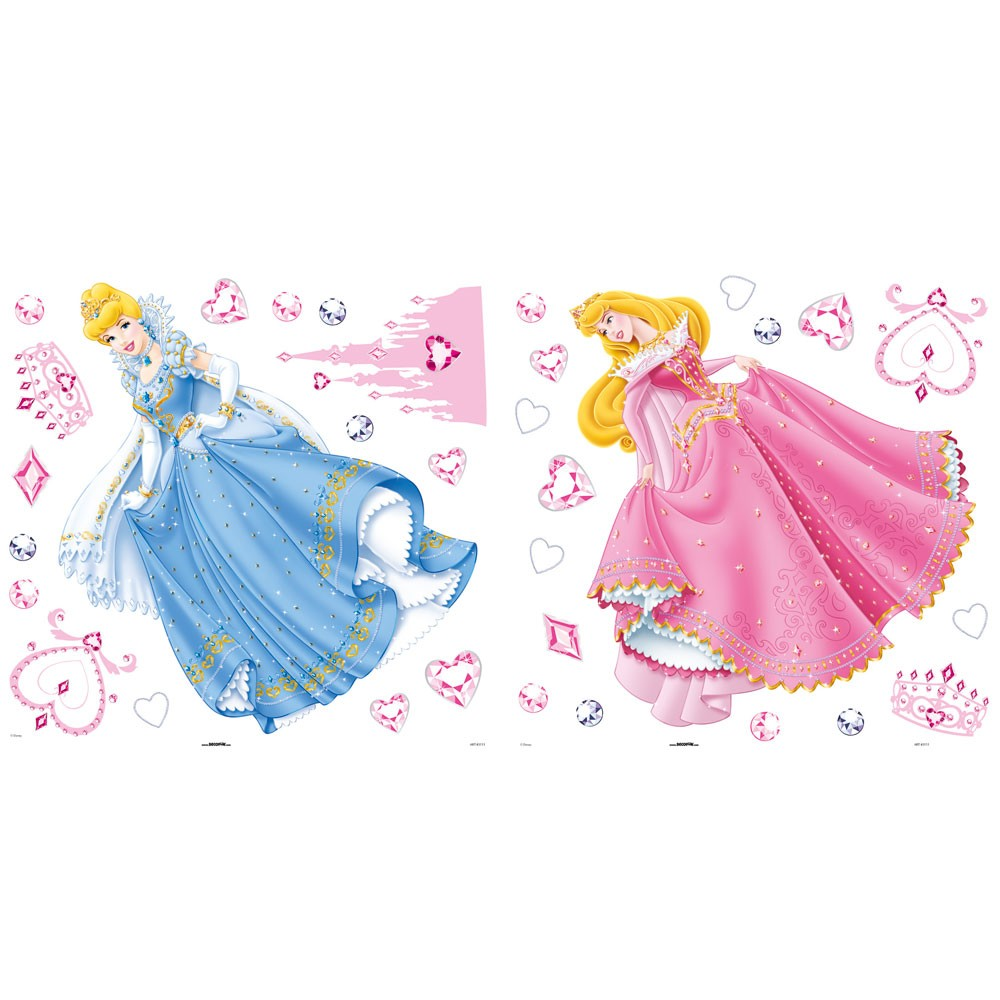 Disney wall stickers 2017 grasscloth wallpaper for Disney princess mural stickers