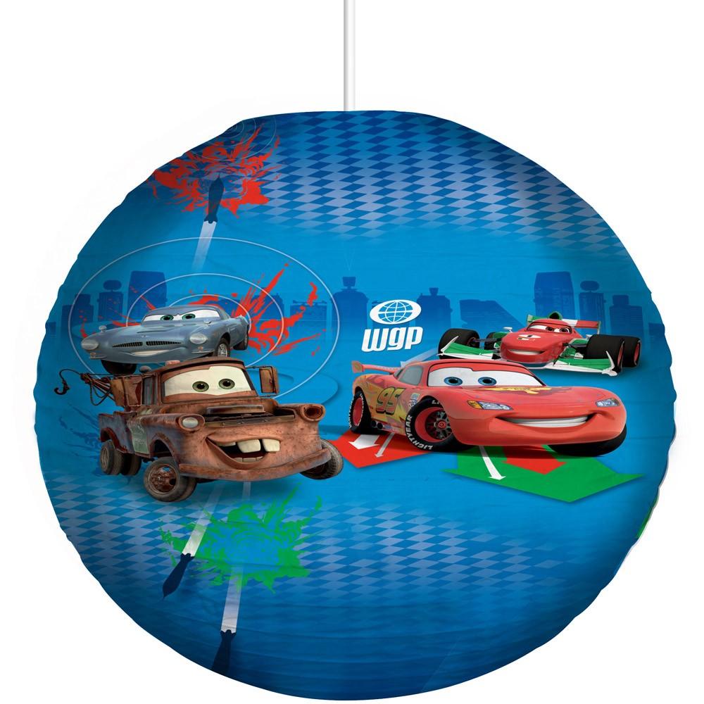 DISNEY CARS 2 PAPER LIGHT LAMP SHADE PENDANT NEW