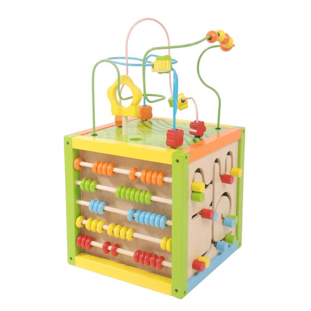 wooden bead maze cube w abacus new free p p ebay