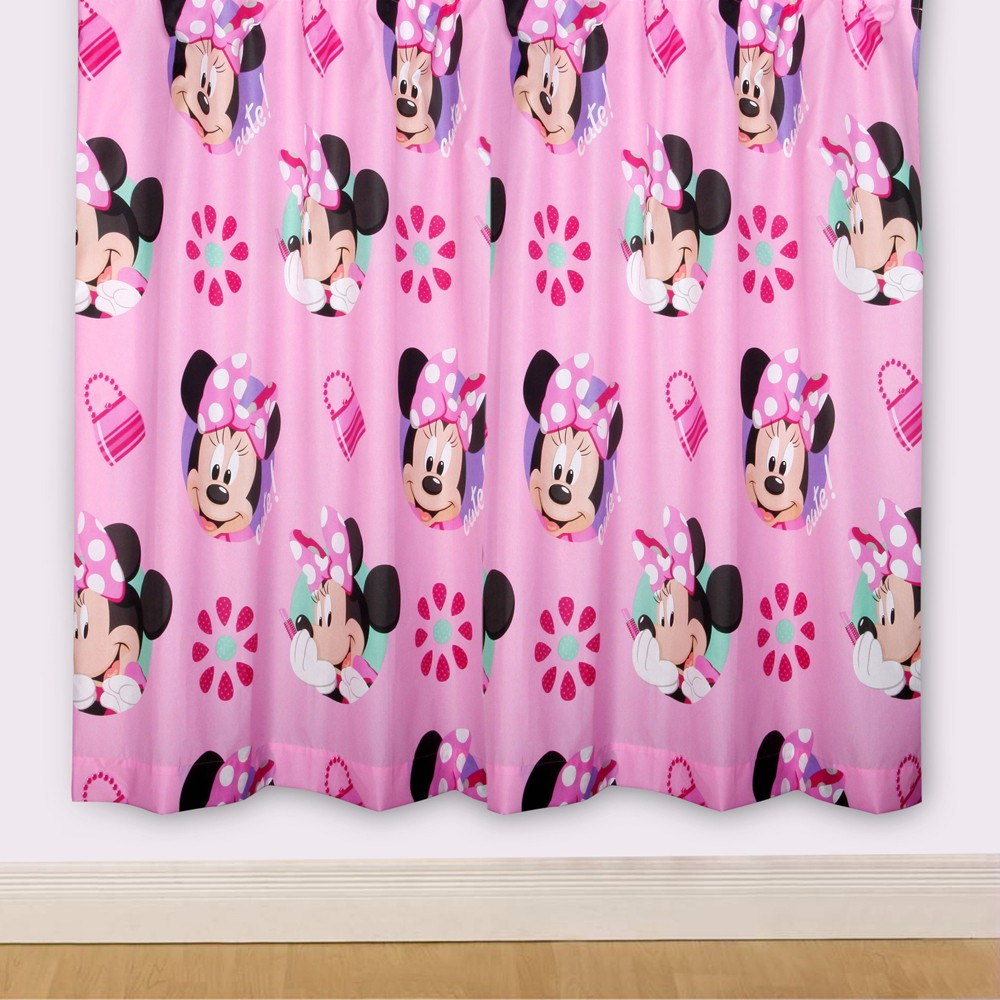DISNEY MINNIE MOUSE 39 PRETTY 39 66 X 72 CURTAINS NEW Matches
