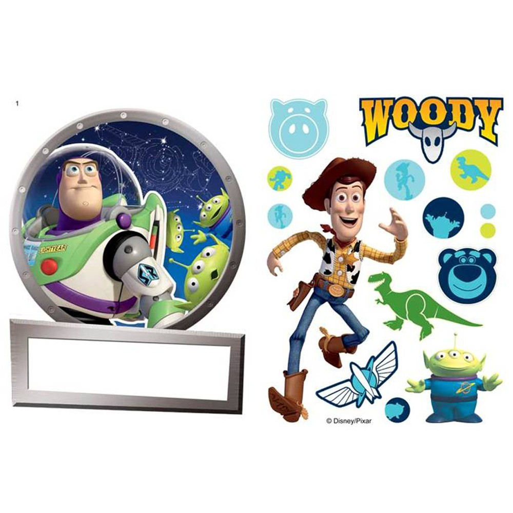 Toy Story Wall Light : TOY STORY NAME PLATE WALL STICKERS NEW OFFICIAL BUZZ LIGHTYEAR eBay