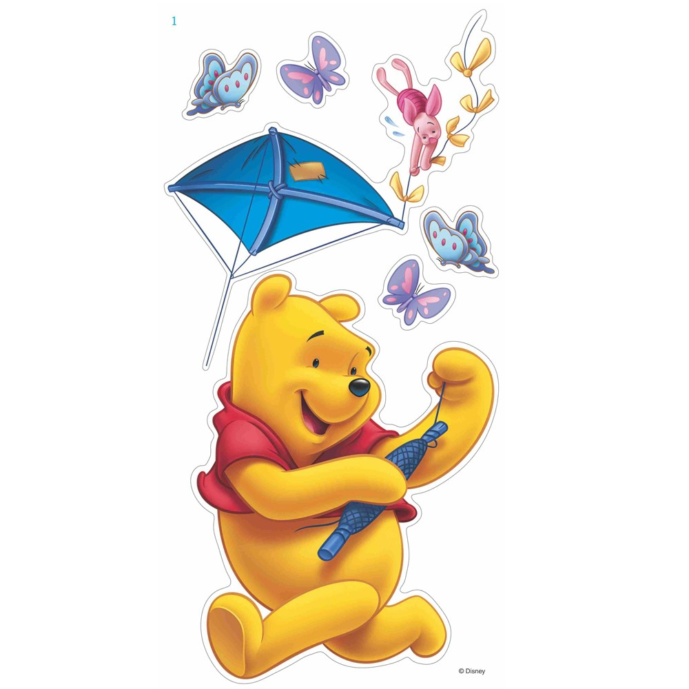 winnie the pooh 12 giant large wall stickers new official