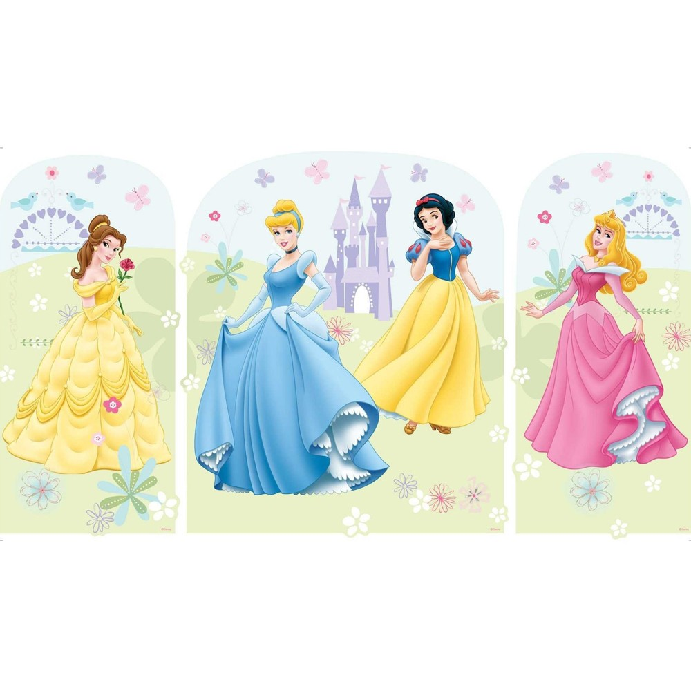 Disney princess xxl wall stickers new official giant for Disney princess mural asda