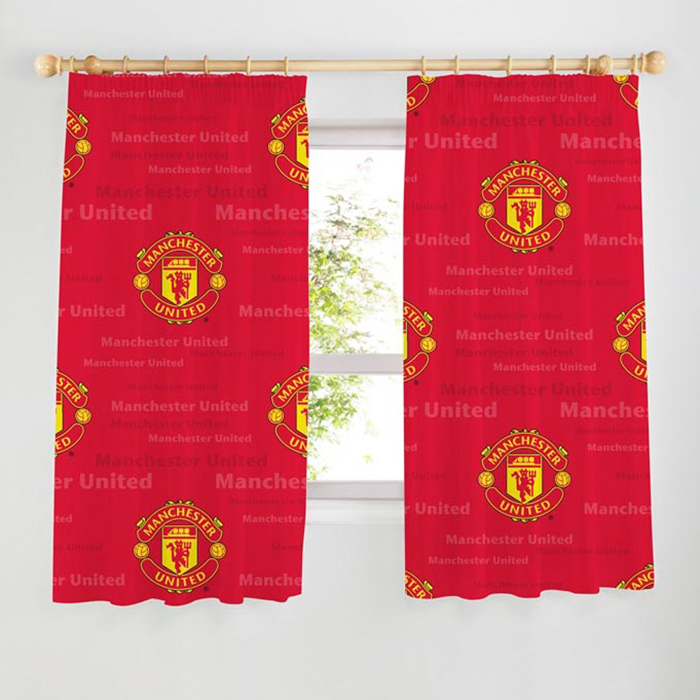 Man utd curtains for Man u bedroom ideas