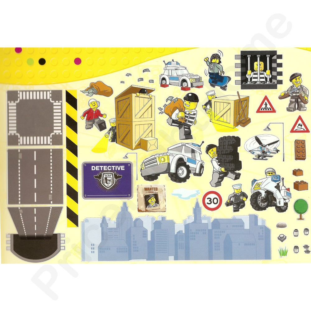 Lego City Wall Decals - Elitflat