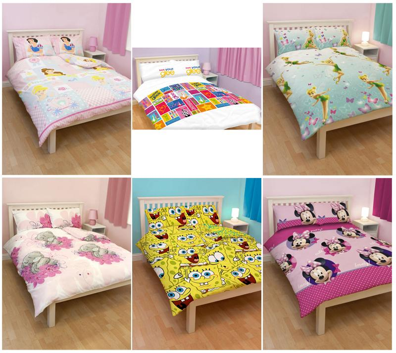 DOUBLE DUVET COVERS - CHARACTERS &amp; TV 100% OFFICIAL (FREE UK SHIPPING)