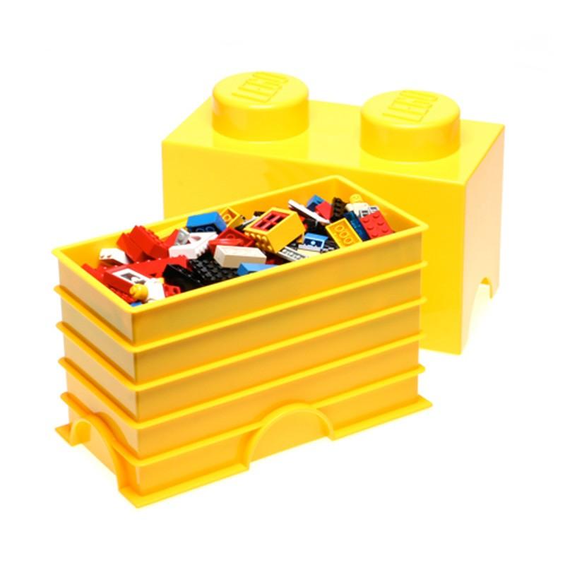 Lego grand rangement mobilier boite sc ll e 2 jaune bloc - Brique de rangement lego grand modele ...