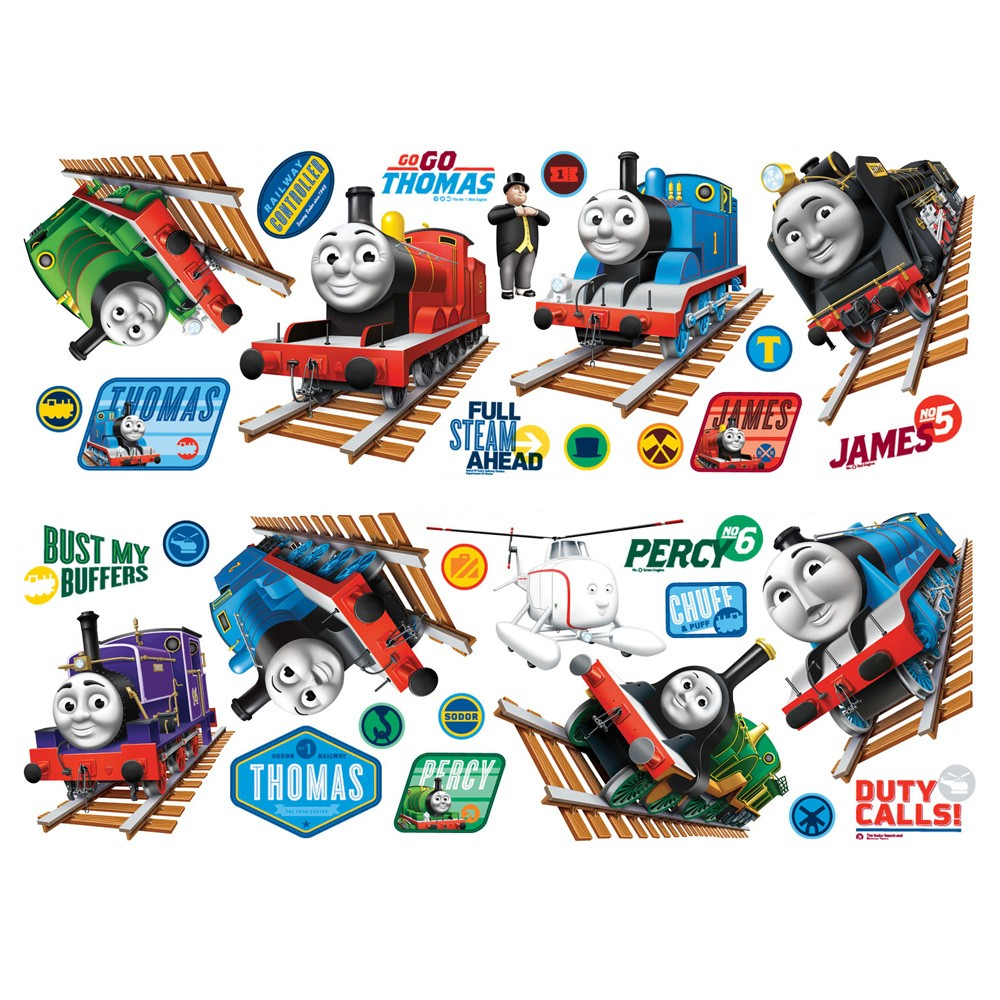 thomas friends wall stikarounds 32 stickers new tank engine official ebay. Black Bedroom Furniture Sets. Home Design Ideas