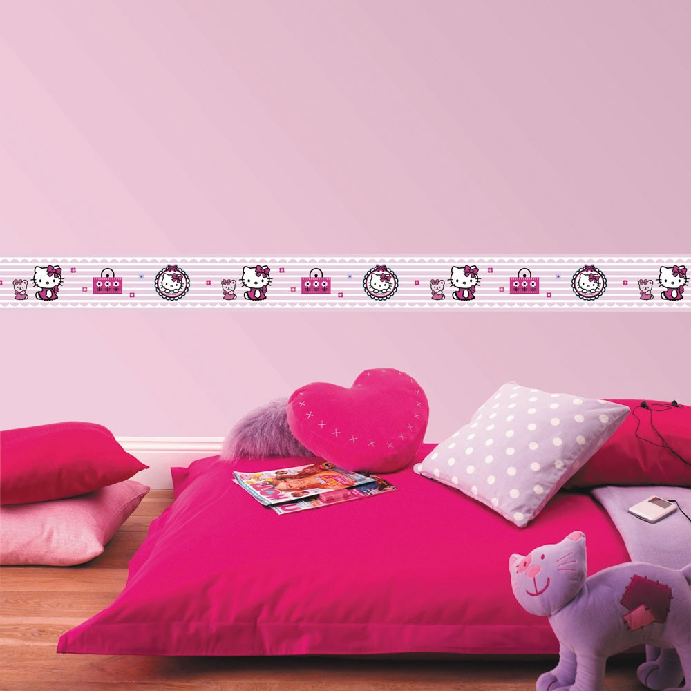 Selbstklebende Tapete Hello Kitty : Hello Kitty Candy Border