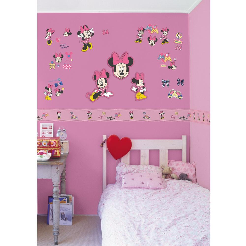 minnie mouse self adh wallpaper borders 5m ebay