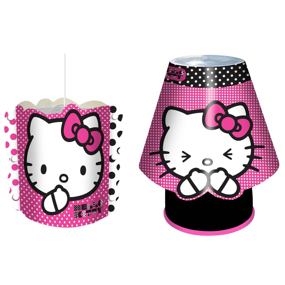 hello kitty light shade kool lamp combo new official lighting ebay. Black Bedroom Furniture Sets. Home Design Ideas