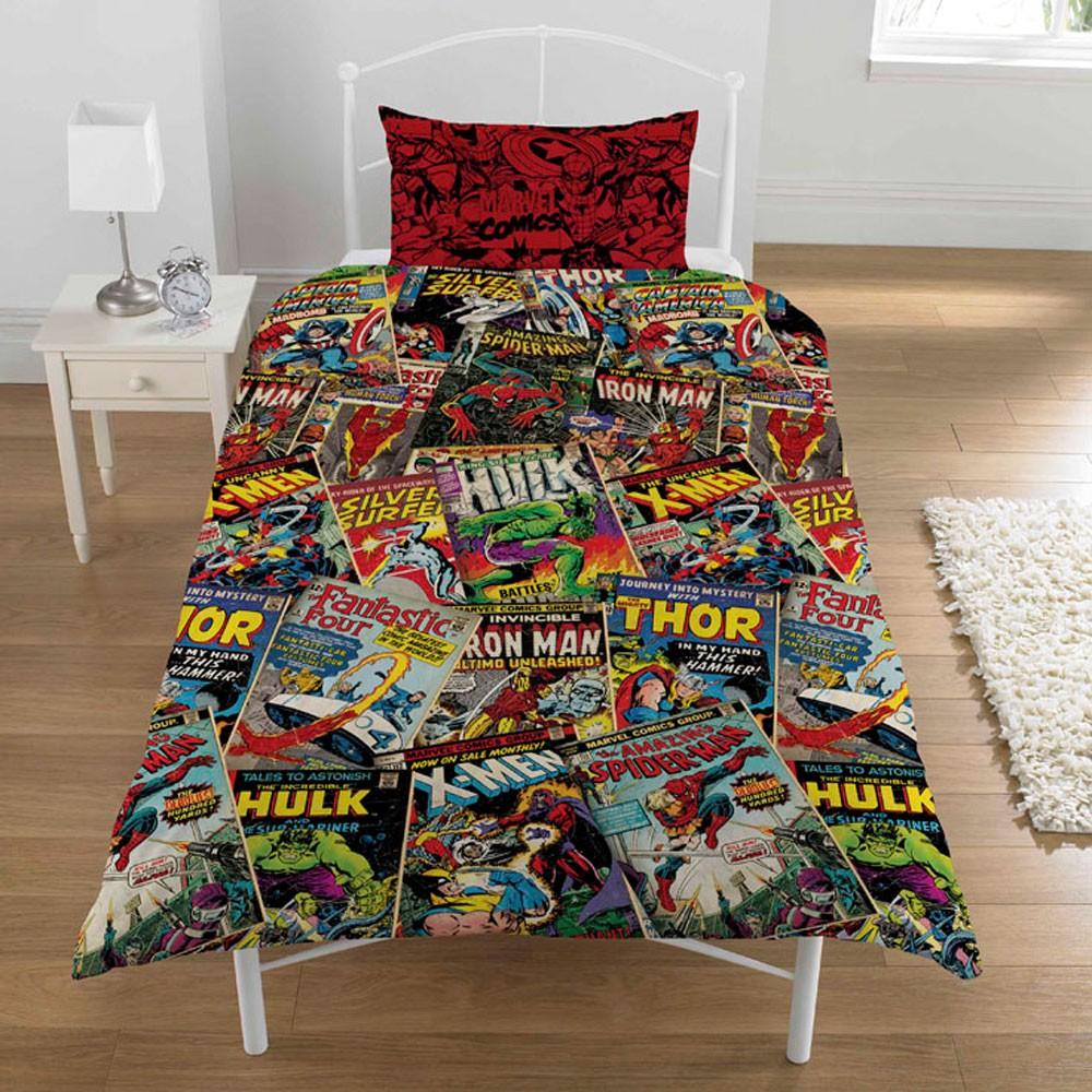 Parure housse couette taie oreiller lit 1 personne choix - Housse de couette avengers ...