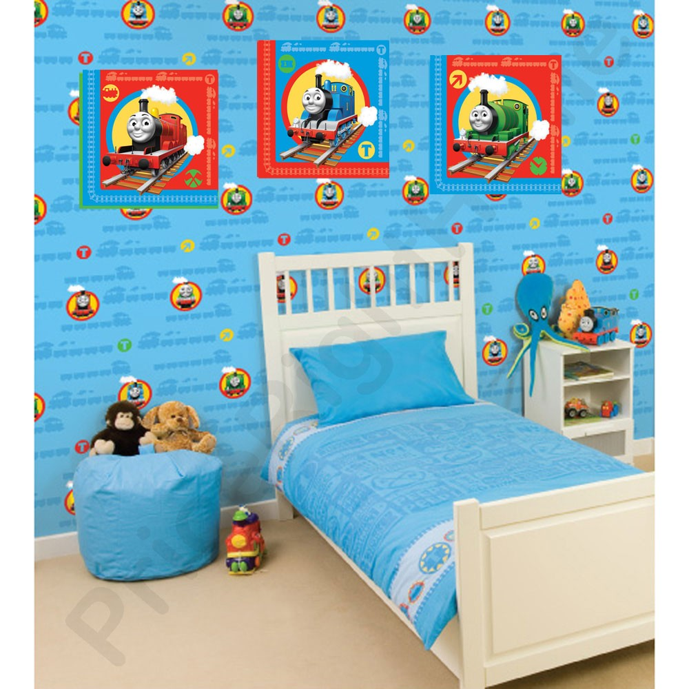 thomas friends art squares 3 room stickers new decor official tank