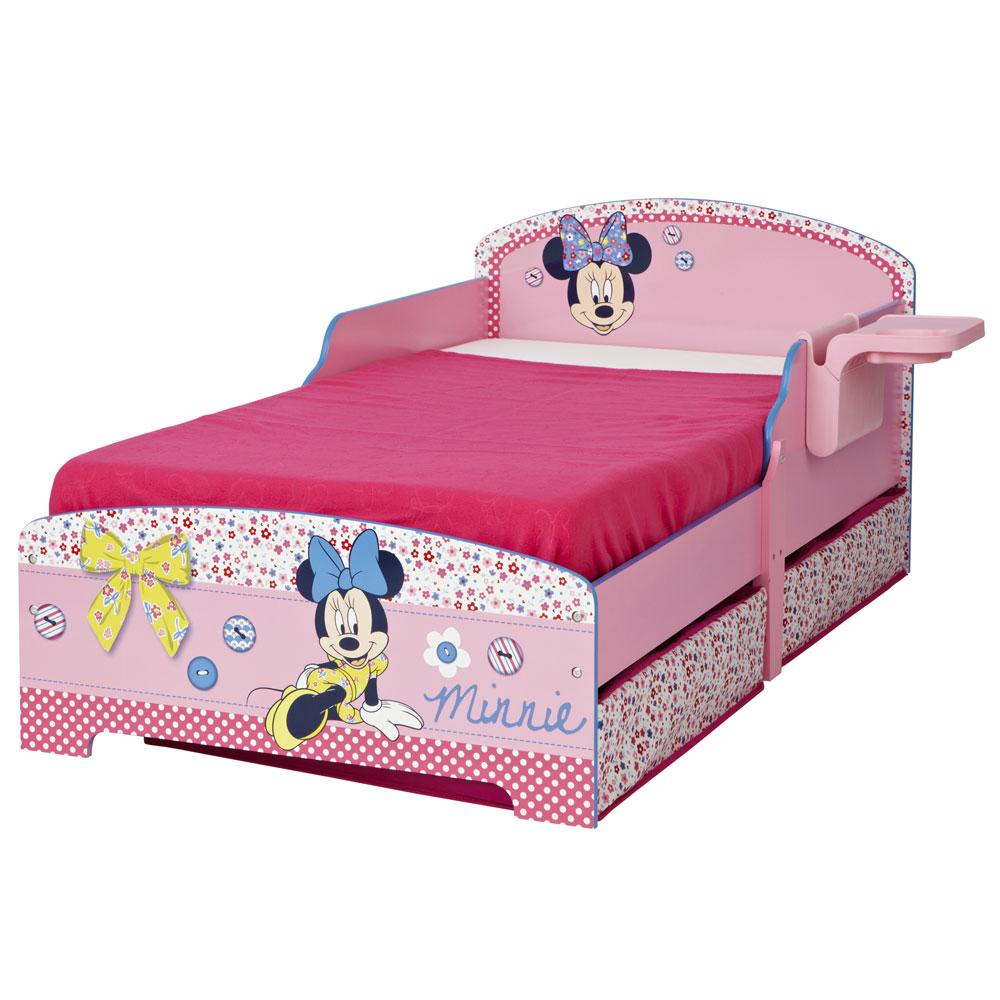 MINNIE MOUSE TODDLER JUNIOR BED SHELF Amp UNDERBED STORAGE