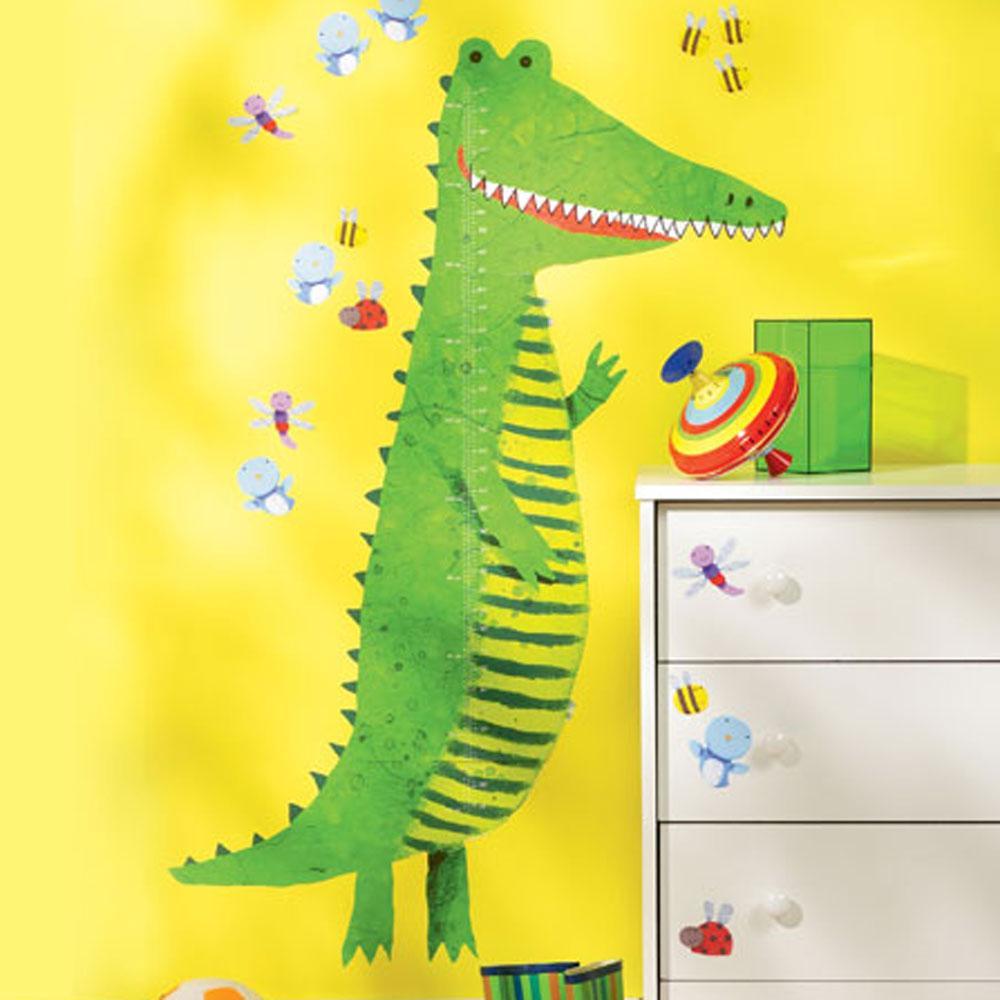 Wallies mur jeu crocodile croissance hauteur tableau for Peinture crocodile