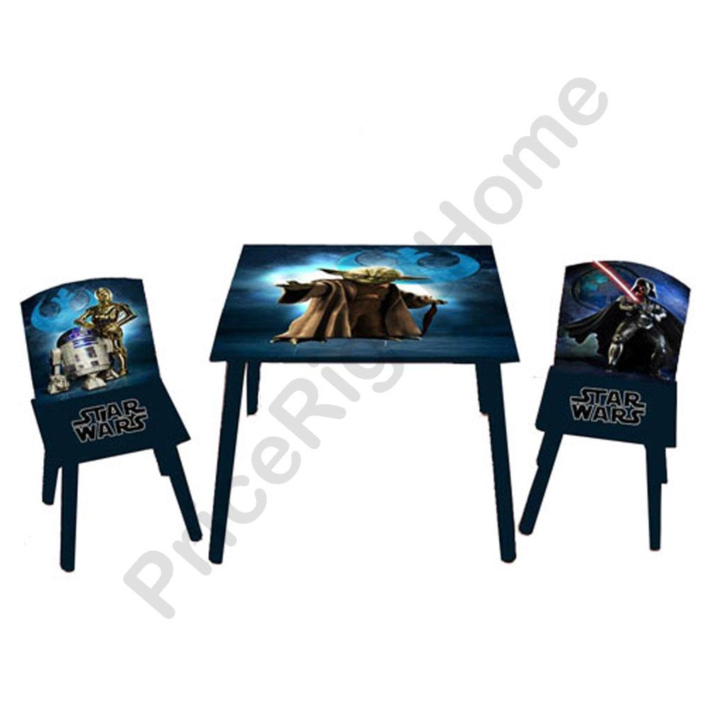 Star Wars Table Chairs Set New And Official Kids