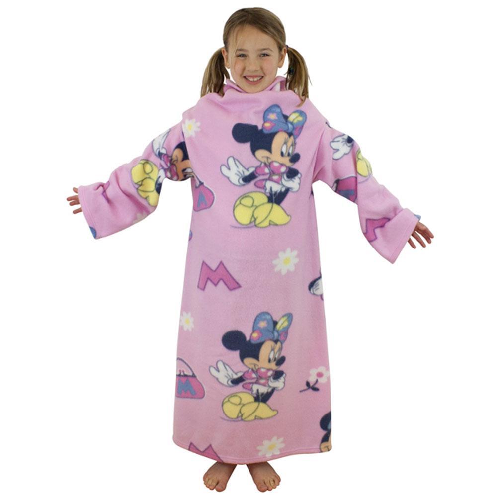 Coperta di pile con maniche comoda calda per bambini