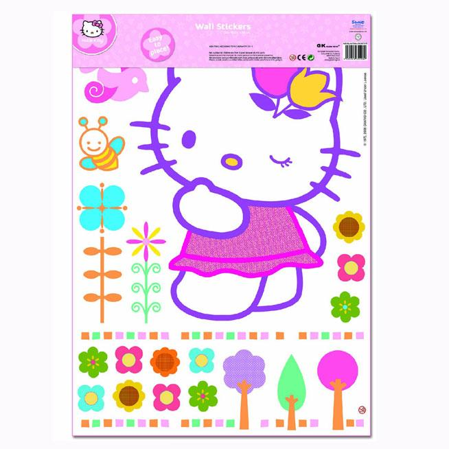 hello kitty flowers xxl giant wall stickers official hello kitty ...