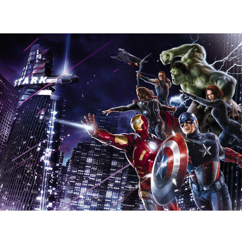 Marvel avengers large photo wall mural room decor for Avengers wallpaper mural