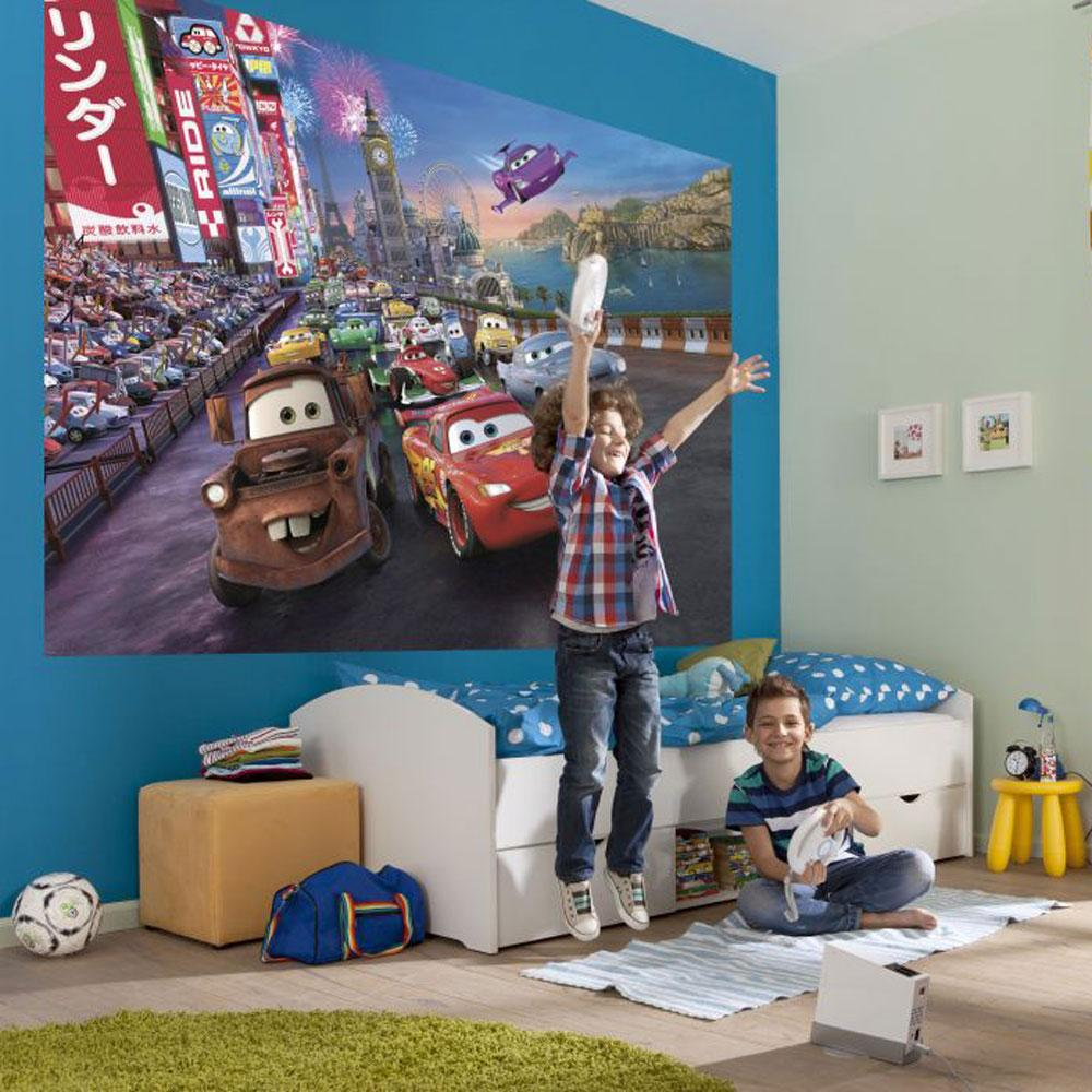 Kids disney character bedroom maxi wall murals free p p for Disney wall mural