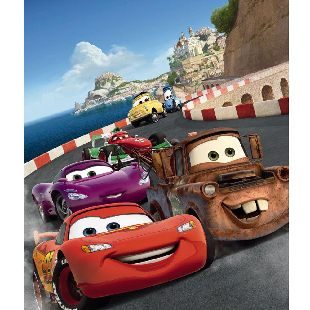 Disney cars italy large photo wall mural room decor for Disney cars wall mural full wall huge