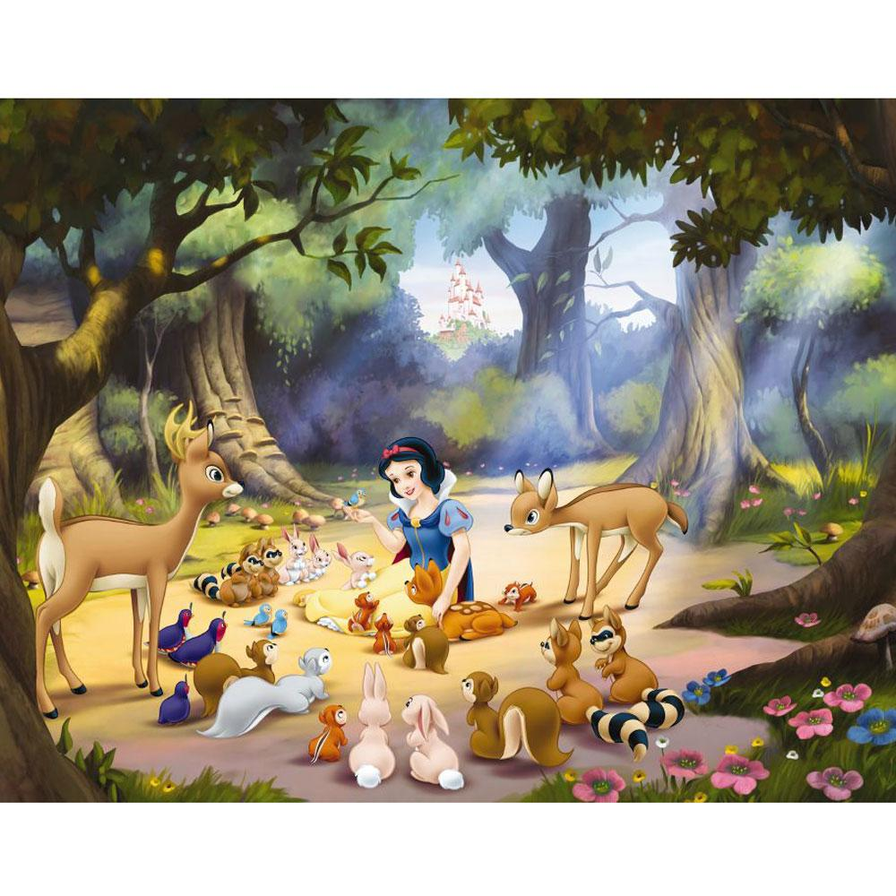 New disney princess snow white large photo wall mural room for Disney princess wall mural