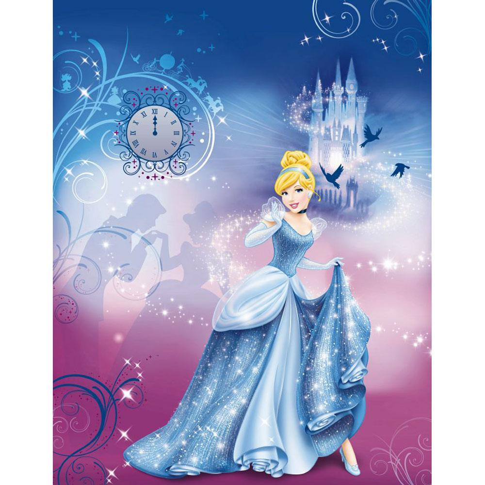 Disney princess cinderellas night large photo wall mural for Disney princess wall mural