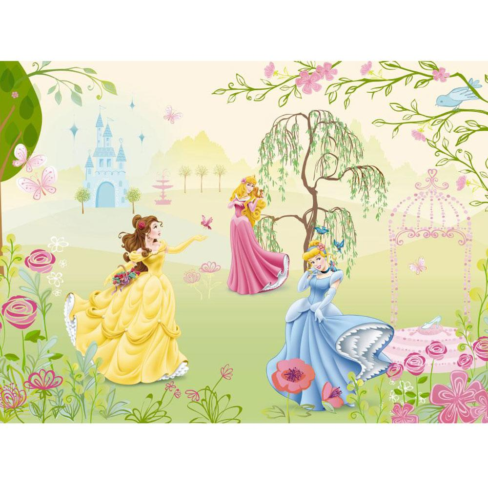 Disney princess 39 garden 39 large photo wall mural room decor for Disney princess wall mural tesco