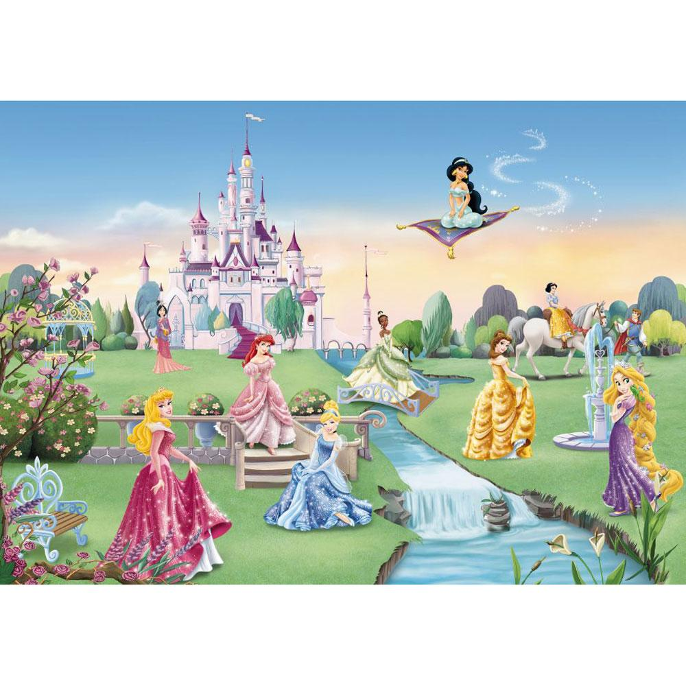 Disney princess 39 castle 39 large photo wall mural room decor for Disney wall mural