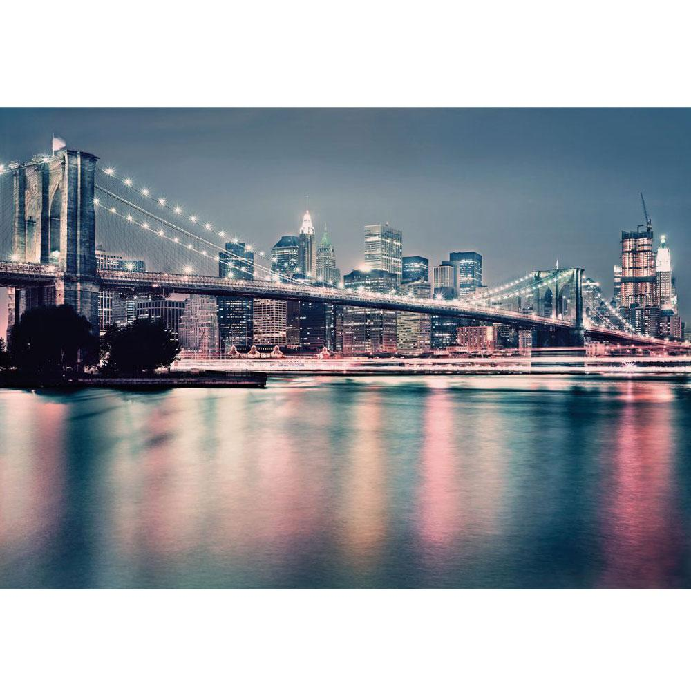 New york city brooklyn bridge large photo wall mural room for Brooklyn bridge wallpaper mural