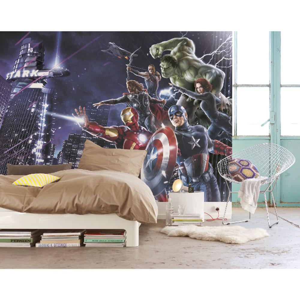 New marvel 39 avengers 39 large photo wall mural room decor wallpaper spi - Decor mural original ...
