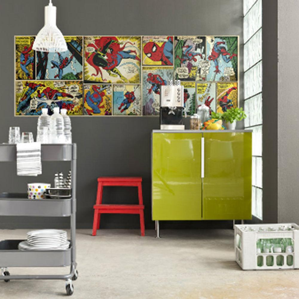Spiderman large photo wall mural new room decor marvel comics wallpaper ebay - Decor mural original ...