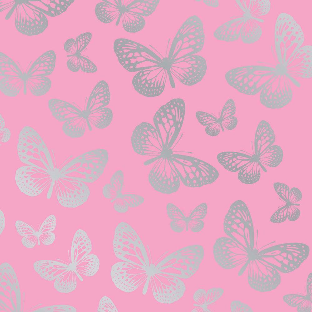 Pink Butterfly Wallpaper: NEW BUTTERFLIES WALLPAPER 10m ROOM DECOR PINK BUTTERFLY