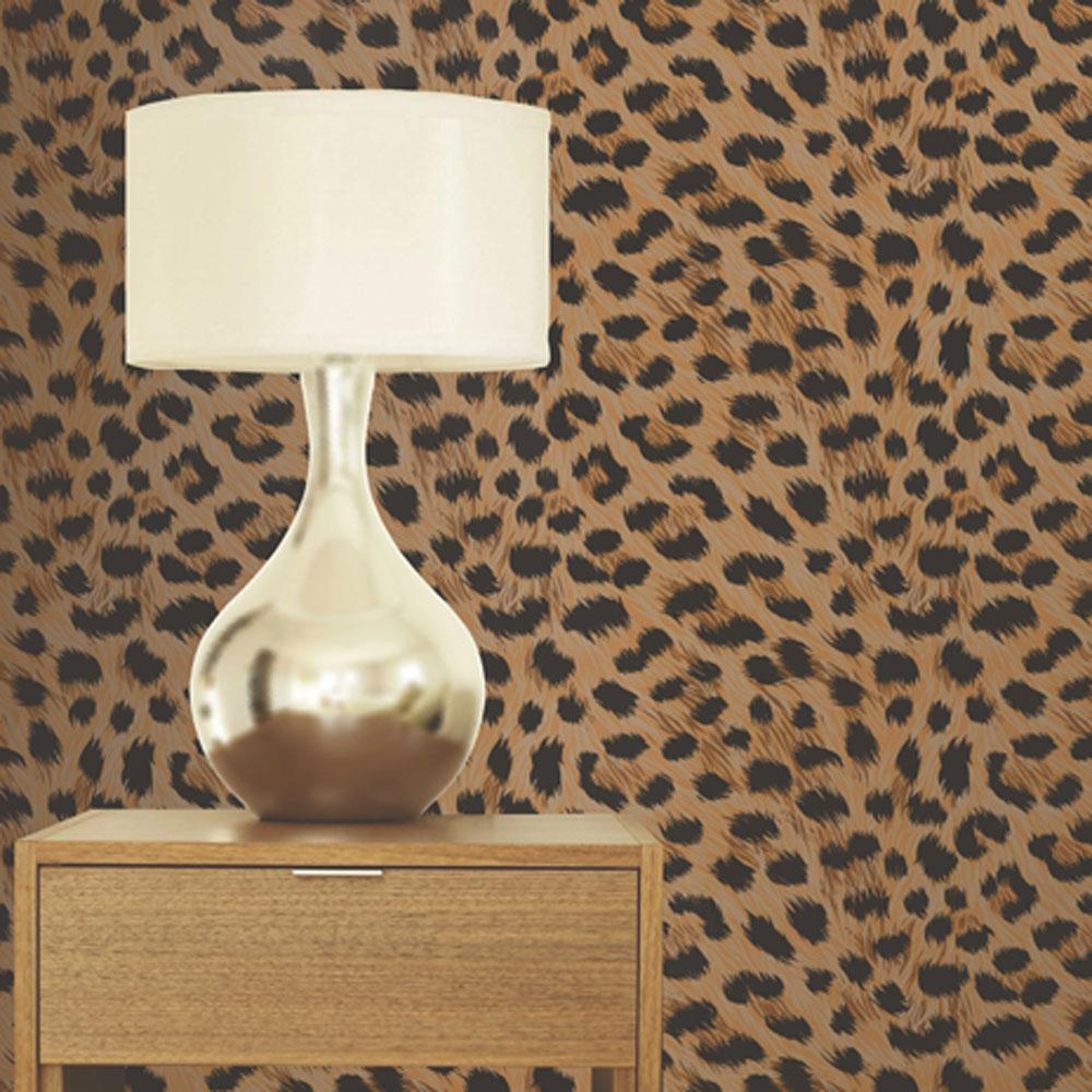 Luxury leopard print wallpaper 10m room decor all colours for Decoration zebre