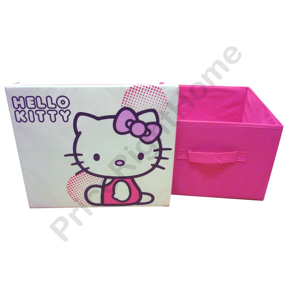 NEW HELLO KITTY LARGE PINK TOY STORAGE BOX FLAT PACK EBay
