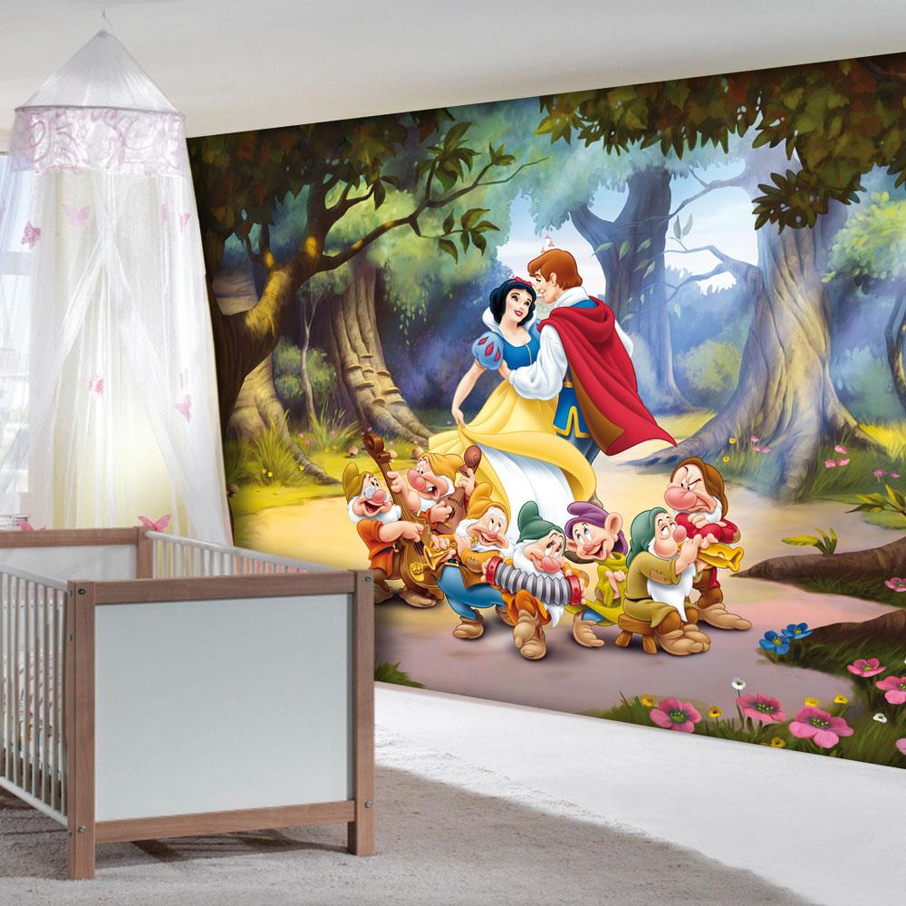 Disney princess 39 snow white seven dwarfs 39 large wall mural room decor - Decor mural original ...