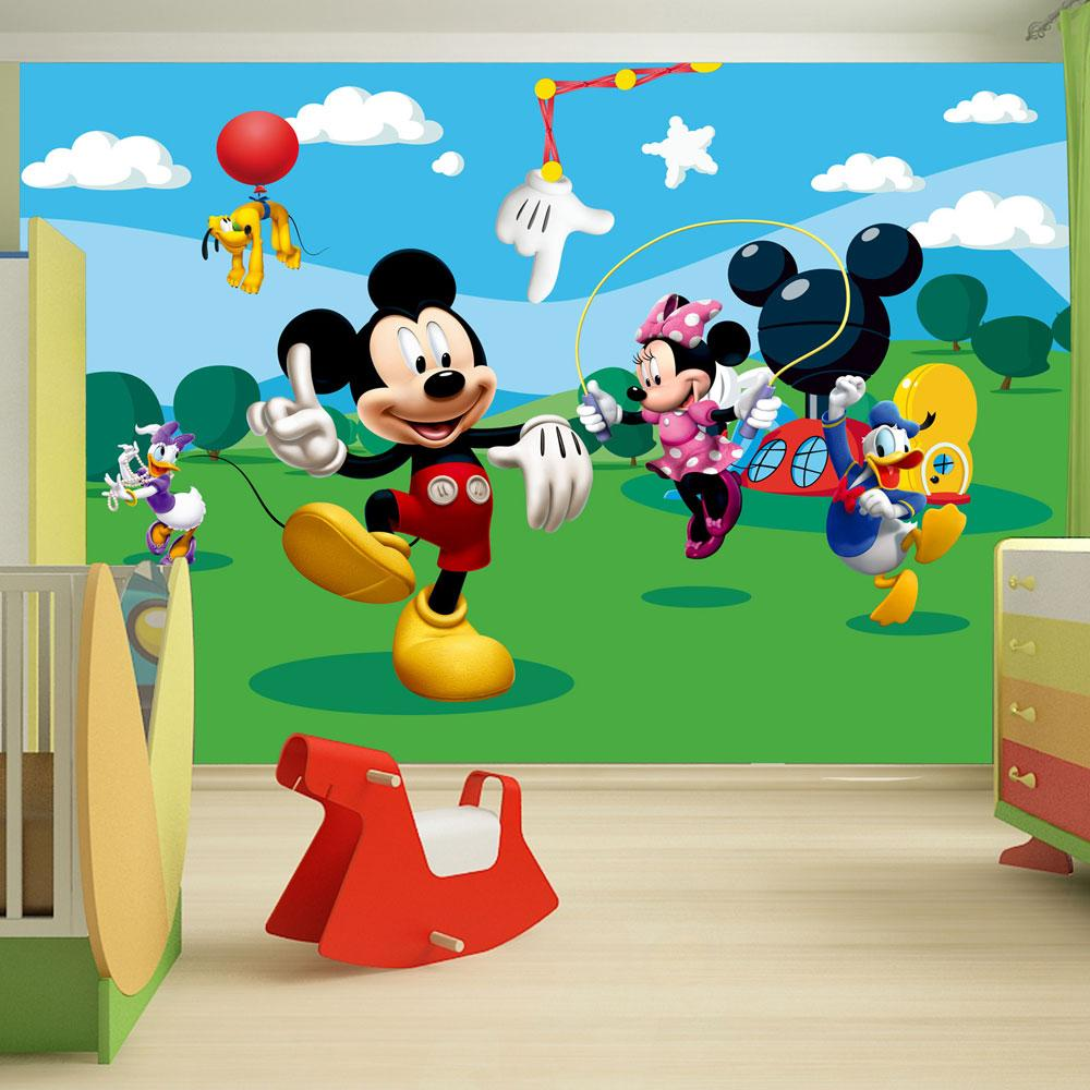 Childrens bedroom disney character wallpaper wall mural - Stickers papier peint mural ...