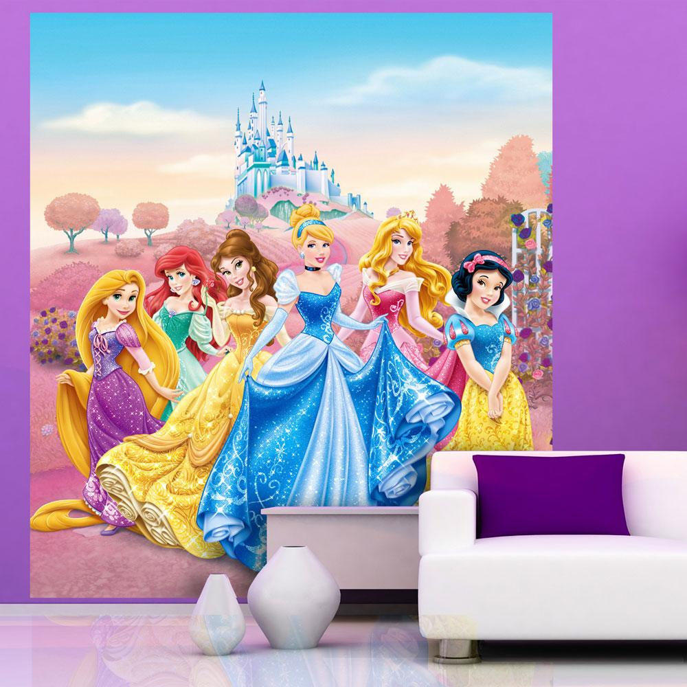 Disney character large wall mural bedroom decor for Disney princess wall mural