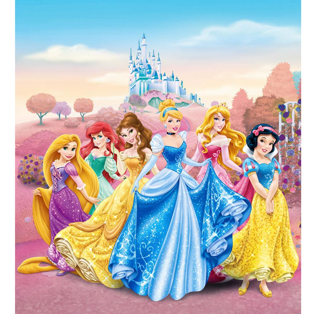 Disney princess 39 castle 39 large wall mural room decor for Disney princess castle mural