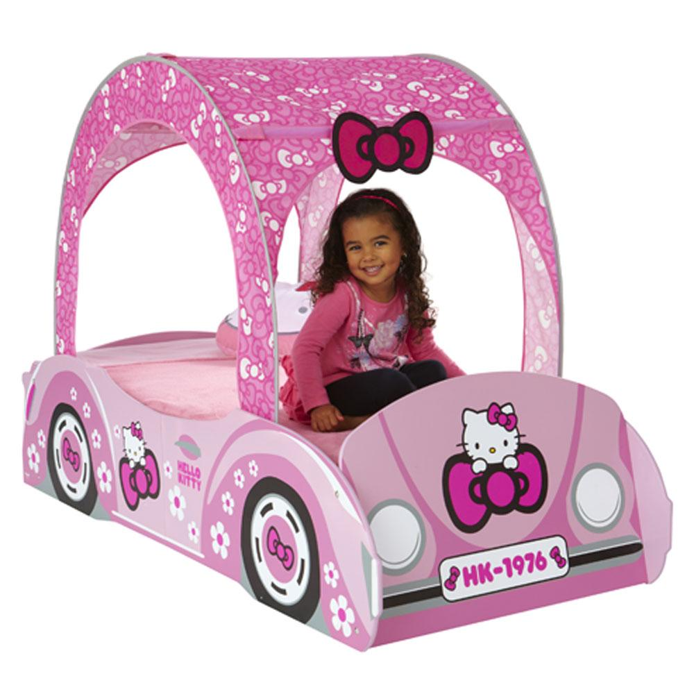hello kitty feature toddler bed a hello kitty feature bed with ...