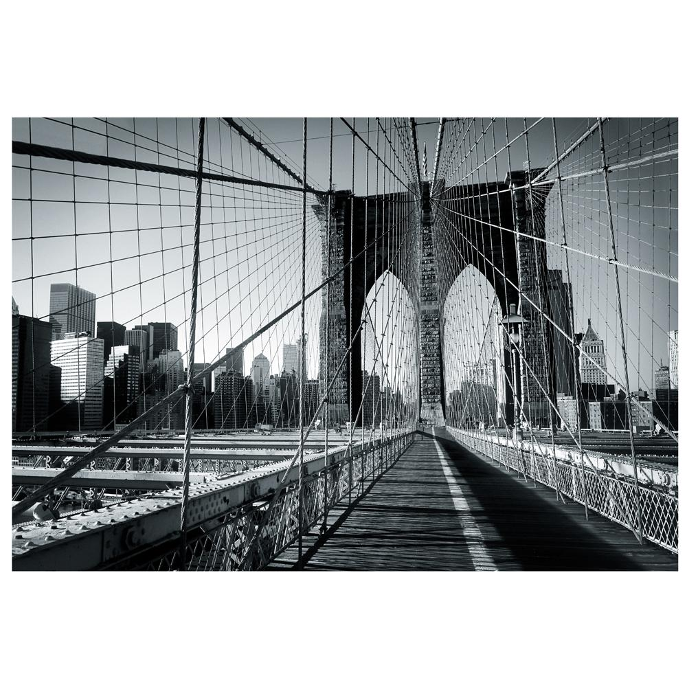 New york brooklyn bridge large photo wall mural decor for Brooklyn bridge wallpaper mural