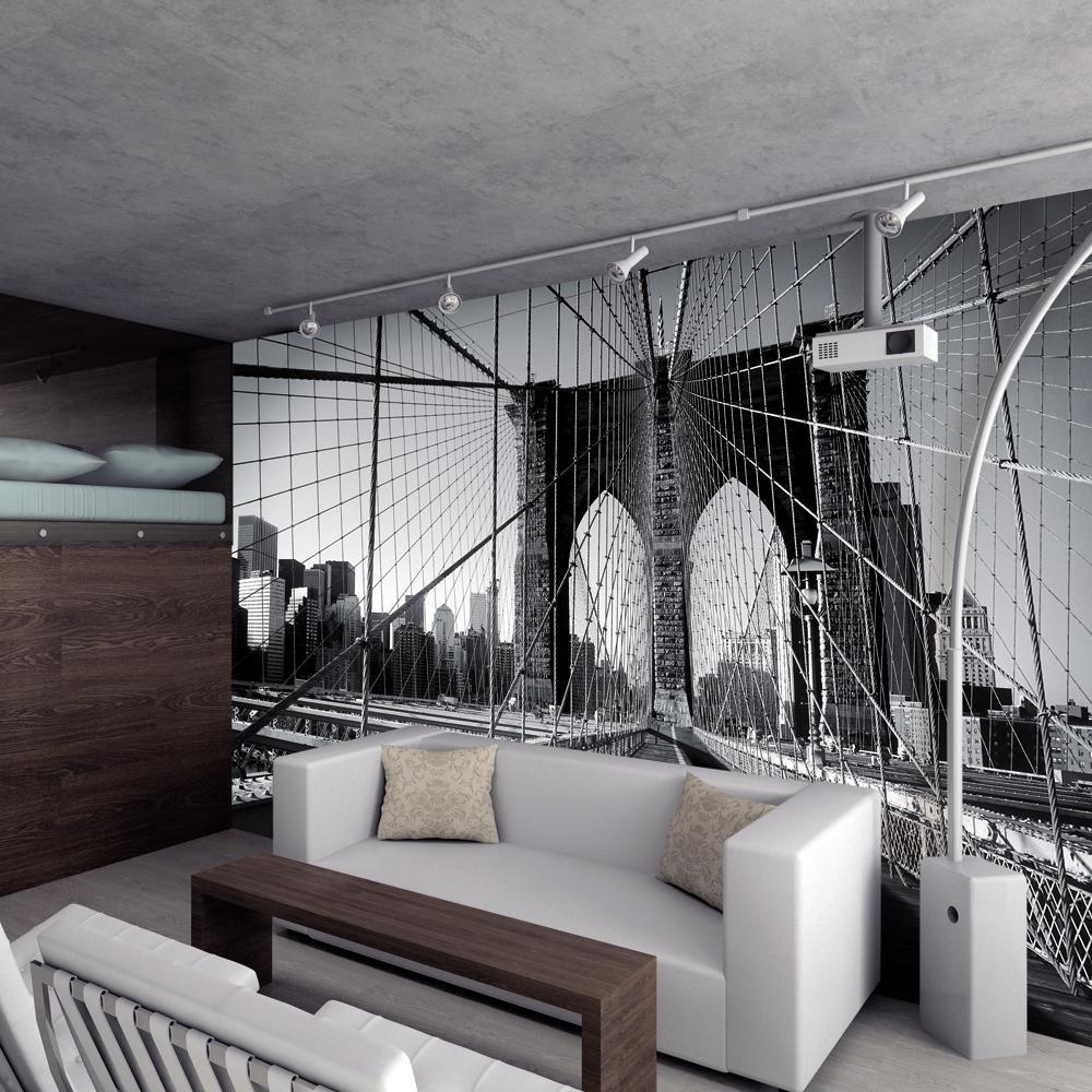 New york brooklyn bridge large photo wall mural decor for Brooklyn bridge wall mural