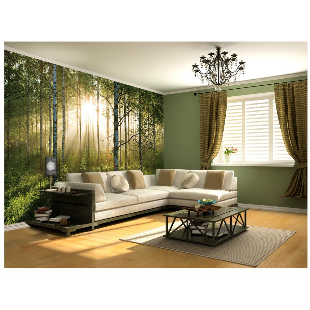Forest large photo wall mural room decor wallpaper 232cm x 315cm ebay - Decor mural original ...