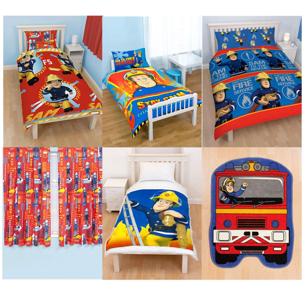 Fireman Sam Bedroom Accessories Bedding Furniture New Official Ebay