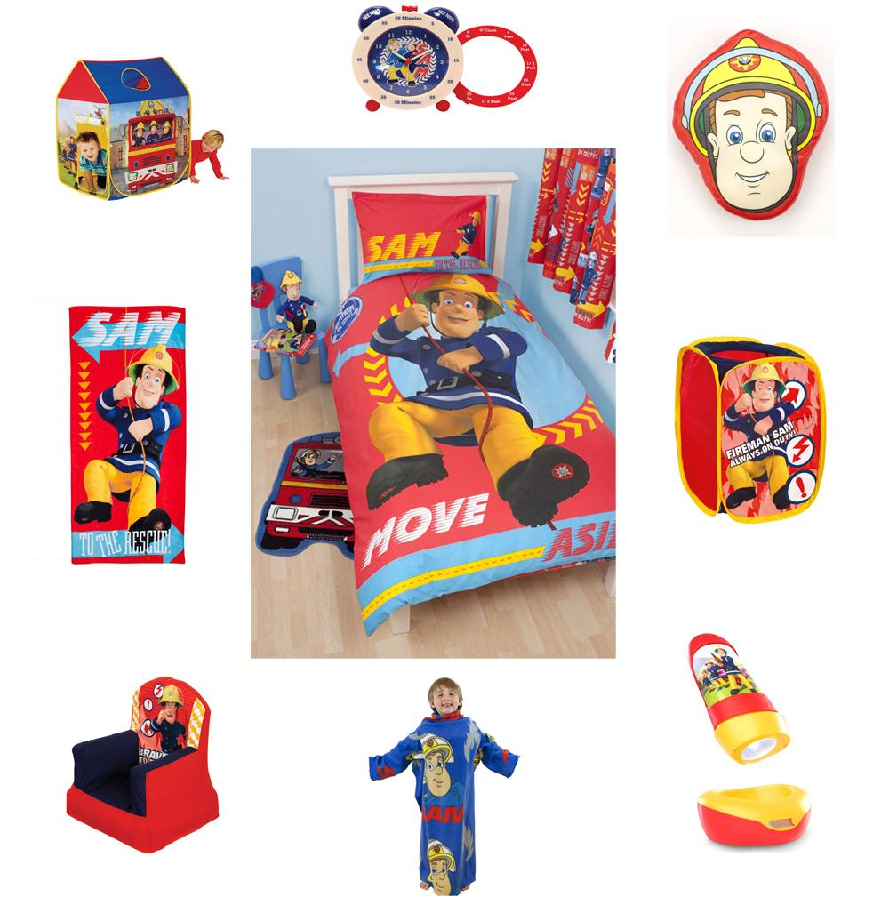 Fireman Sam Bedding Bedroom Accessories Furniture FREE P P EBay