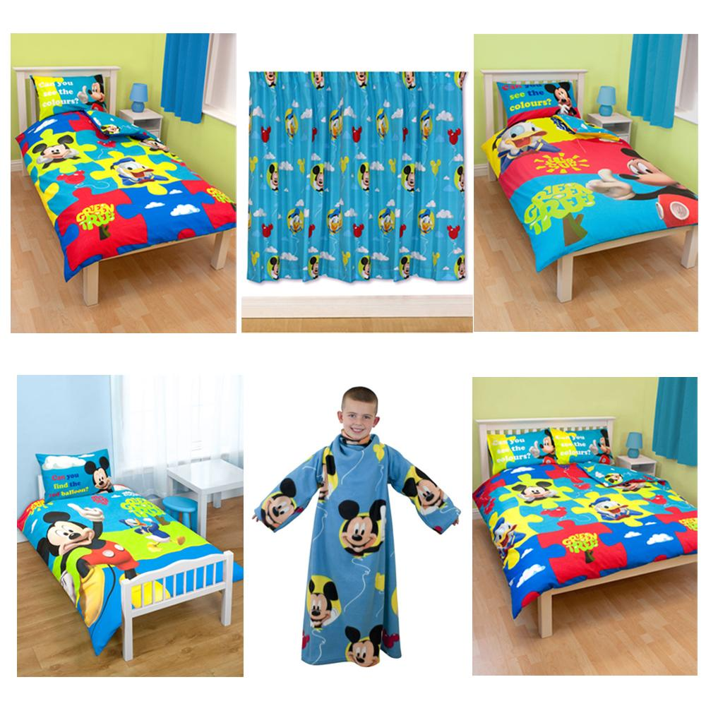 Disney mickey mouse duvet covers bedroom accessories furniture free p p ebay - Mickey mouse bedroom furniture ...